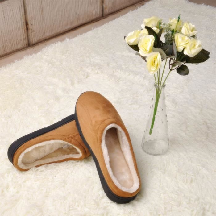 Slip Memory Slip Indoor Slippers Microsuede Anti Lightweight Warm 47 Taille Outd ISAGU Rubber Soft Foam With Sole On FqB5P
