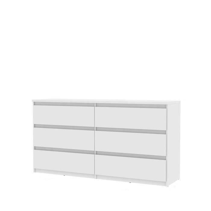 FINLANDEK Commode de chambre NATTI style contemporain blanc mat - L 154 cm