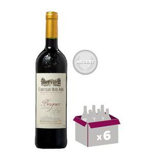 VIN ROUGE Château Bel Air 2012 Bergerac vin rouge x6