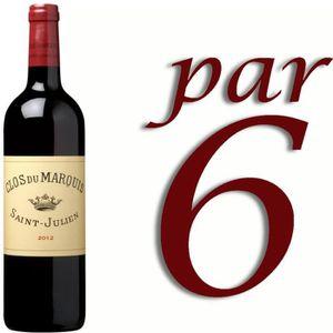 VIN ROUGE Clos du Marquis St Julien 2012 x6