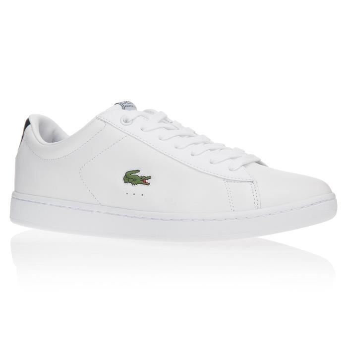 b57ba8ecfd LACOSTE Baskets Carnaby Chaussures Homme Blanc - Achat / Vente ...
