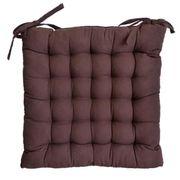 COUSSIN DE CHAISE  Galette de chaise 25 points 40x40x4 cm CHOCOLAT