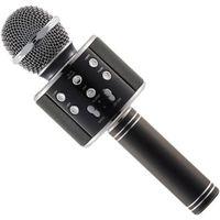 MICROPHONE - ACCESSOIRE Noir WS-858 Microphone sans fil Métal MIC Recordin