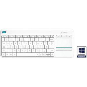 Logitech K400 Plus - Clavier sans fil avec touchpad - Blanc