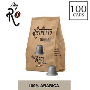 CAFÉ - CHICORÉE 100 Capsules  de Cafè MyGrey compatibles avec mach