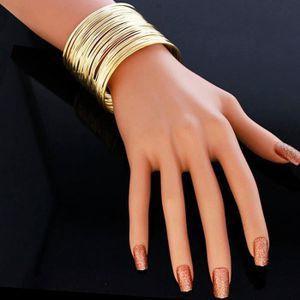 BRACELET - GOURMETTE Deessesale®Mode exagérée Gypsy plaqué bracelets bi