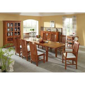 TABLE À MANGER SEULE Table extensible 140-220x90cm, 4 à 8 Personnes, Bo