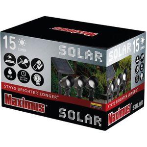 BALISE - BORNE SOLAIRE  KIT 3 SPOTS 3x15 lumens + PANNEAU SOLAIRE