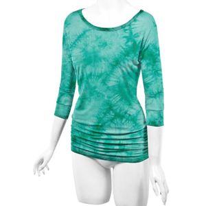 3e9484de5ec Craze Ll Womens manches 3 4 Tie-Dye Ombre Dolman Top - Made In Usa ...