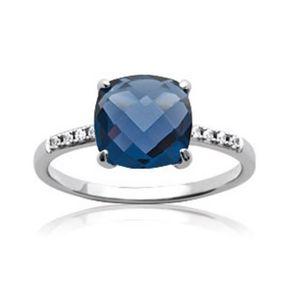 50048c935afc58 Bague en argent massif avec pierre bleue - Achat   Vente pas cher