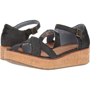 CHAUSSON - PANTOUFLE Toms Harper Denim Chambray Wedge O5PGO Taille-36 1