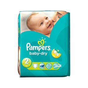 COUCHE Pack 42 Couches de Pampers Baby Dry taille 2
