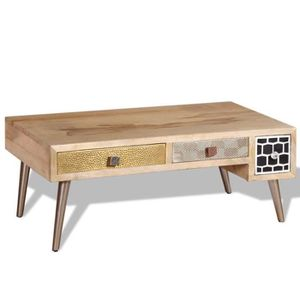 TABLE BASSE Table basse avec tiroirs Bois de manguier massif 1 fcb9a73d4e6d