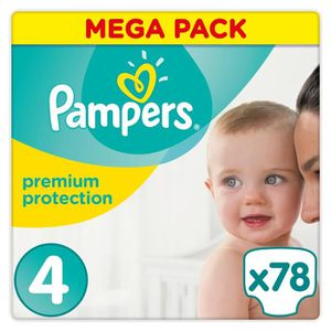 COUCHE PAMPERS Premium Protection Taille 4 8-16 kg - 78 C