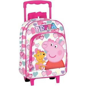 taille 40 5b70f 49c87 PEPPA PIG - Cartable à roulettes Peppa Pig Coeurs - Achat ...