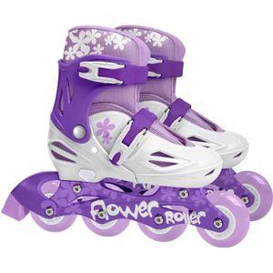 PATIN - QUAD STAMP Roller en ligne Enfant Fille Violet Ajustabl