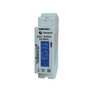 DISJONCTEUR COMPTEUR ENERGIE ELECTRIQUE kWh RAIL DIN 1 MODULE