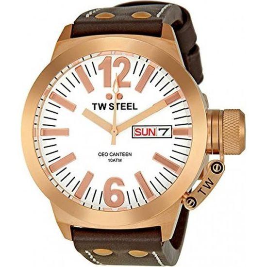 TW Steel TWS CE1017 Montre Homme Analogique Bracelet Cuir , - Achat ... e75d5386ab3