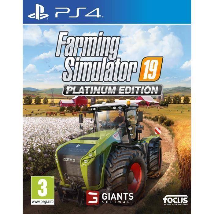Farming Simulator 19 Édition Platinium Jeu PS4