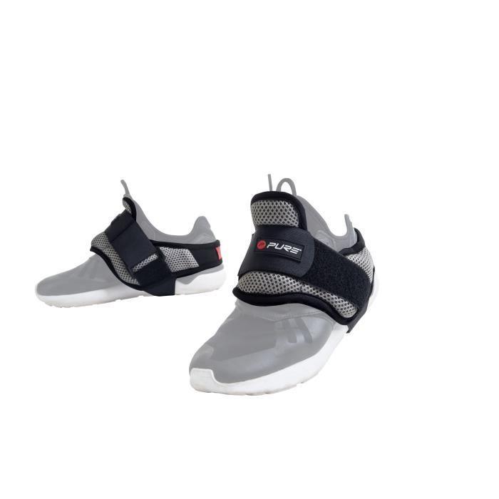PURE2IMPROVE Poids pour chaussures entraînement - Fitness - Noir/Gris