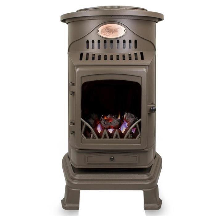 chauffage d appoint gaz style vieux po le marron miel. Black Bedroom Furniture Sets. Home Design Ideas