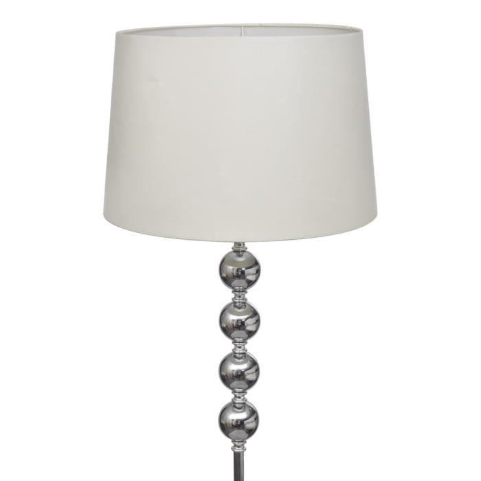 Magnifique lampe de sol a long pied avec 4 boules de - Lampadaire boule chrome ...