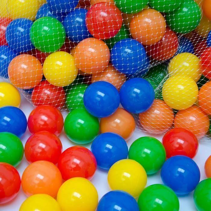 PISCINE À BALLES Balles colorées de piscine 100 Pièces - HTNDGT-A01
