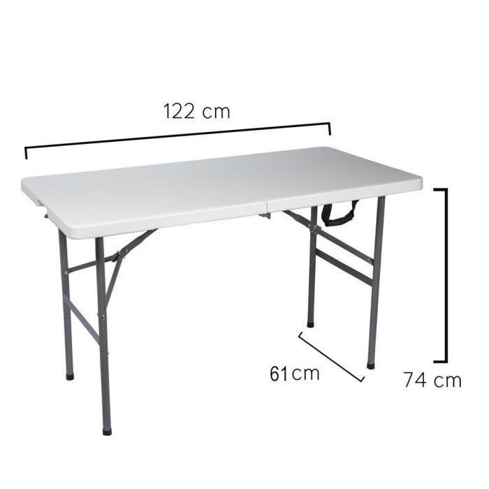 122 rectangulaire x 70 cm Papillon Pliante 74 8043810 Table x 4AL3ScRj5q