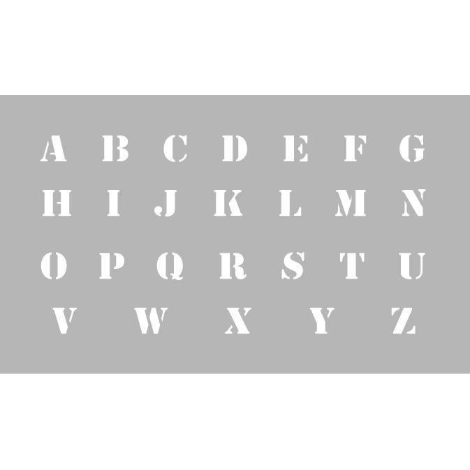 Pochoir   Alphabet   Hauteur Lettres 13 Mm   DTM