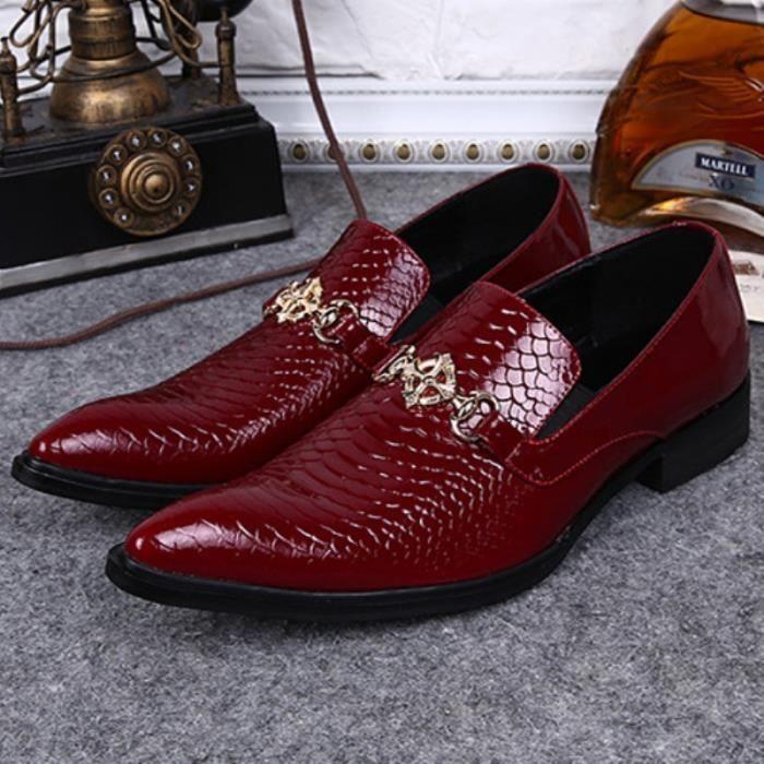 Designer Shoes en cuir véritable 2015 Top Fashion Marque Hommes d'Affaires Slip On Party Chaussures plates de mariage des hommes