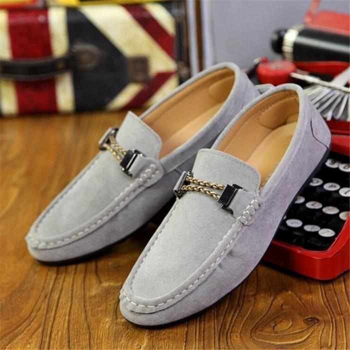 Moccasins homme 2017 nouvelle marque de luxe chaussure Qualité Supérieure homme Moccasin cuir Confortable Respirant Grande Taille 3siDucU1M