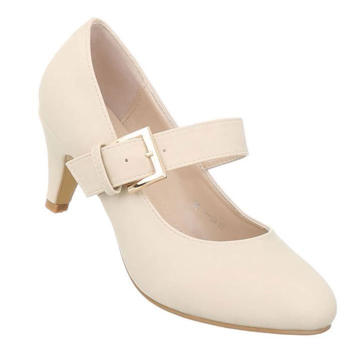 Chaussures femmes l'escarpin classique Beige 41