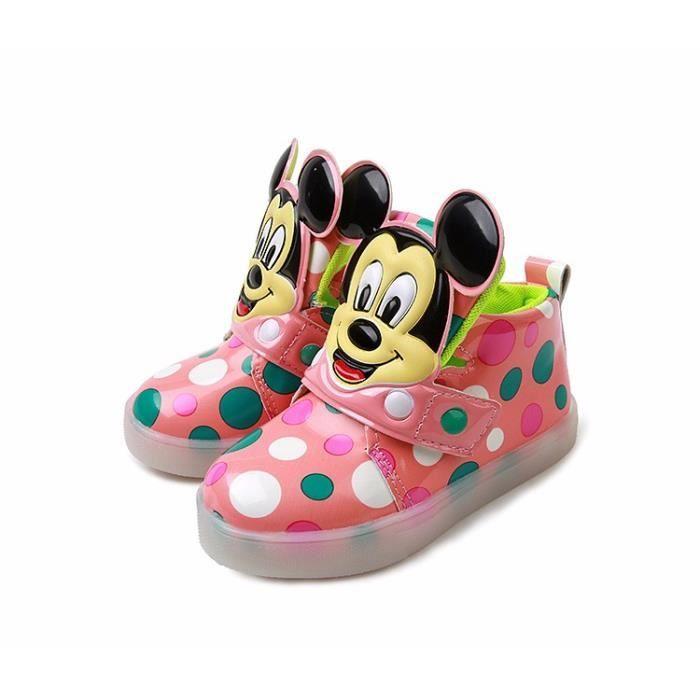 Garçons Filles lumineuse sneaker Minnie enfants clignotant éclairage enfant casual chaussures