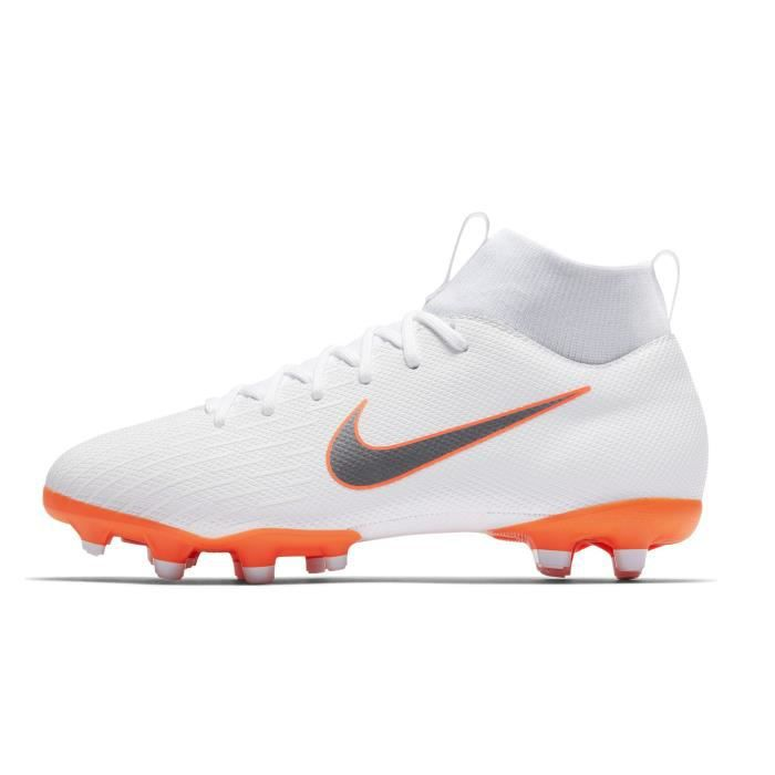timeless design 73e7d 52701 Chaussures football Nike Mercurial Superfly VI Academy DF MG Blanc Junior