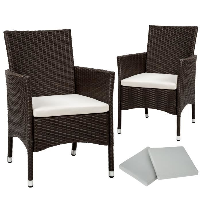 chaises resines tressees empilables tectake