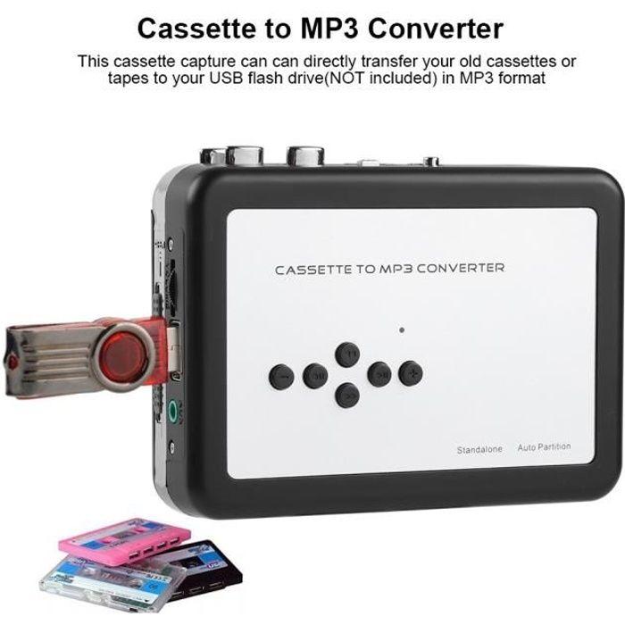 LECTEUR MP3 Lecteur de cassette portable au convertisseur MP3