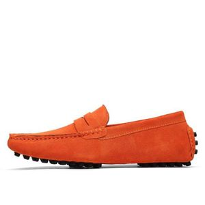 Mocassins Hommes Cuir Ultra Comfortable Appartements Chaussures LLT-XZ071Orange38 K0wFZs6