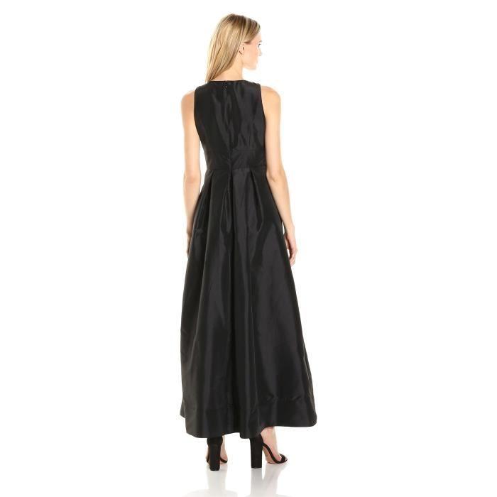 Sangria Robe en taffette sans manches femme avec des détails de corsage embellis K56EG
