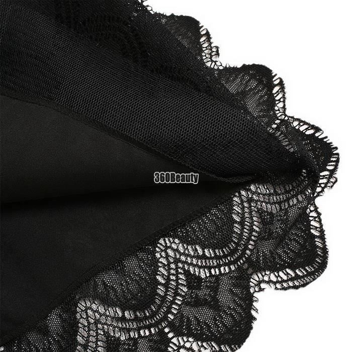 dentelle solide ligne Élégant des bulle femmes creux robe Floral col rond Tutu plissé qwAT0U