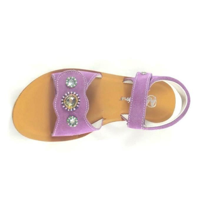 Naturino Sandales Fille Violet Scratch (32 - Fin - violet)