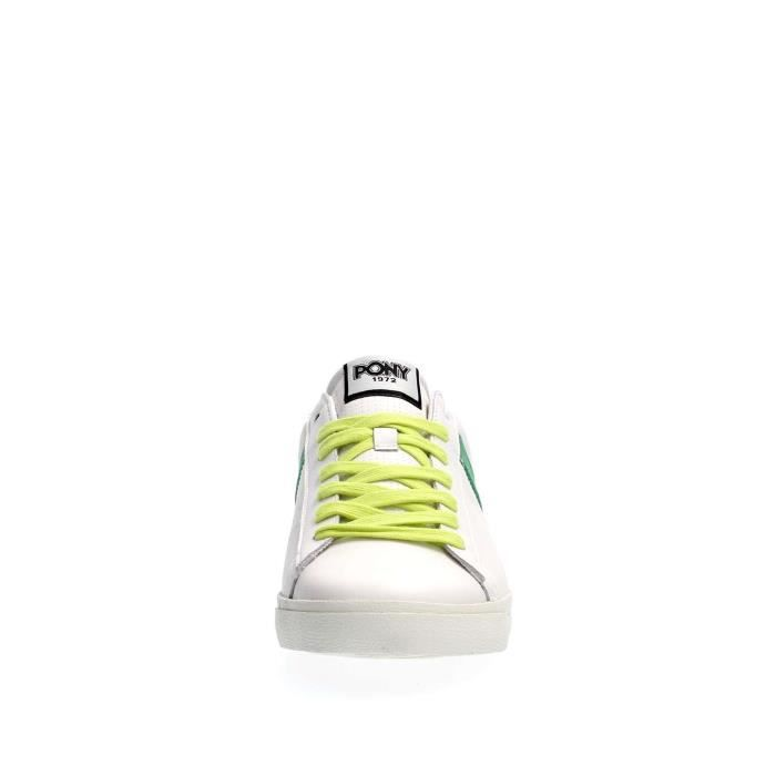 PONY SNEAKERS Homme WHITE GREEN, 40