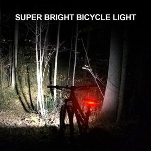 Lampe éclairage velo avant et arriere a led piles fournies.