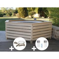 SPA COMPLET - KIT SPA Pack spa gonflable Intex PureSpa rond Bulles 4 pla