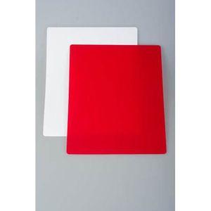 JOCCA 1638 Lot de 2 planches ? découper - Flexibles - Rouge et Blanc