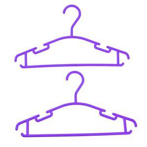 LESSIVE Lot de 10 Cintres en plastique violet pour bébé &