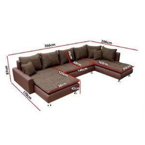 canap sofa divan canap dangle en u nina gris blanc angle droit - Canape D Angle Original