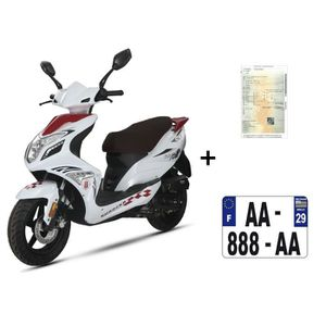 SCOOTER Scooter CKA R8 50cc 4T rouge/blanc+ IMMATRICULATIO