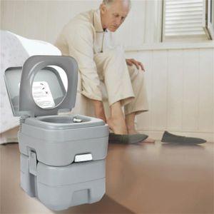 WC - TOILETTES 20L wc-toilette camping portable portatif gris lég