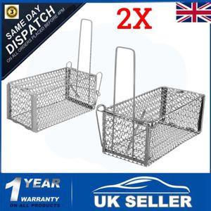 PIÈGE NUISIBLE MAISON UK 2X Attrape Piège à Rats Souris Cage Pliante 23X