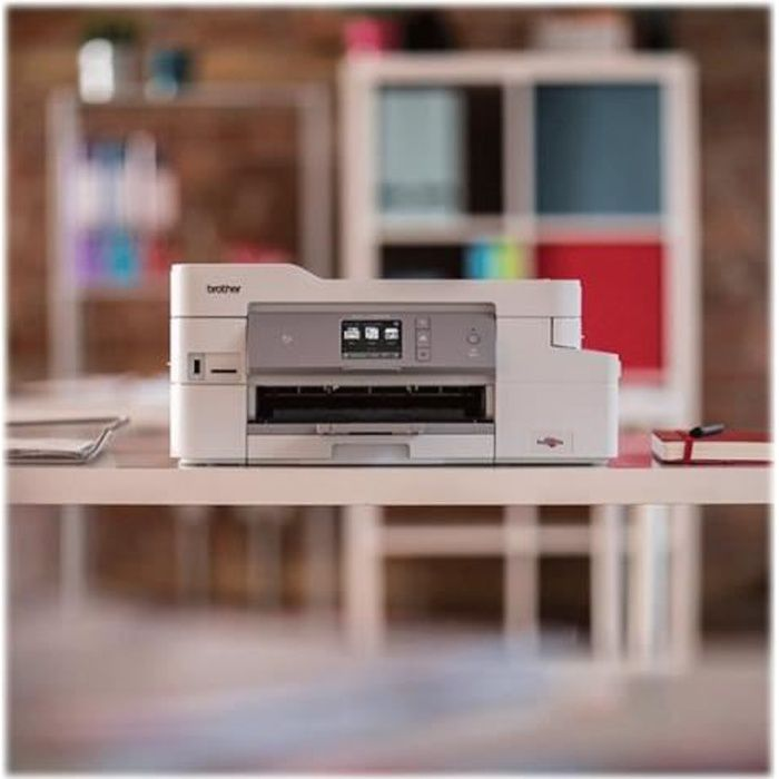 BROTHER Imprimante jet d'encre couleur multifonction 4-en-1 MFC-J1300DW